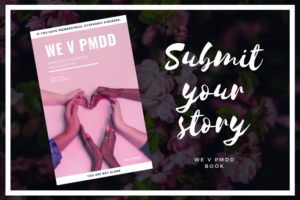 promotional image for we v pmdd book